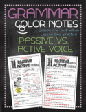 Grammar doodle notes: Passive and active voice