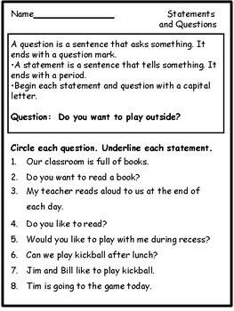 Grammar for Second Grade