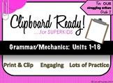 Grammar for SuperKids: UNITS 1-16 Second Grade