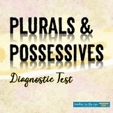 Grammar for Writing Diagnostic Test: Plurals and Possessives