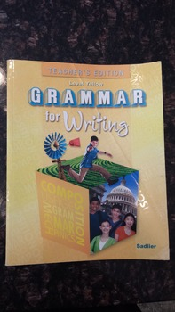 Grammar for Writing Level Yellow Teacher's Edition (Grade