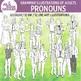 Grammar illustrations of adults — Pronouns