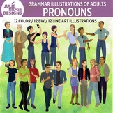 Grammar illustrations of adults — Pronouns