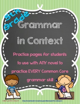 Grammar in Context - Aligned with All 5th Grade CC Language Standards