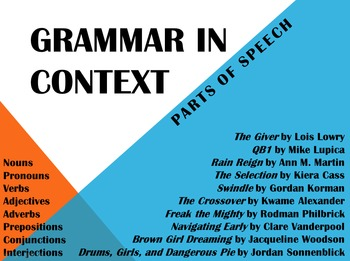 Grammar in Context: Parts of Speech