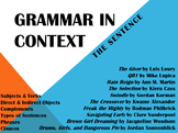 Grammar in Context: The Sentence