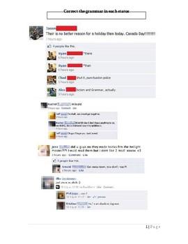 Grammar in Social Media