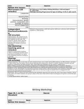 Grammar in Writing Workshop Lucy Calkins