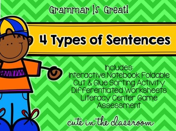 Grammar is Great - 4 Types of Sentences Pack
