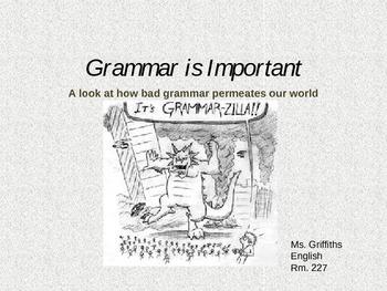 Grammar is Important Powerpoint Lesson Starter