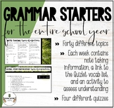 GROWING GRAMMAR BELL WORK/STARTERS FOR THE ENTIRE YEAR