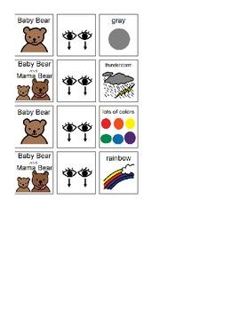 "Grammar lesson ""Baby Bear Sees Blue"" (by Ashley Wolff)"