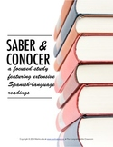 Saber vs. conocer notes; reading based with stations