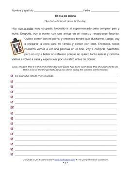 Grammar notes: Spanish present perfect (el pretérito perfecto) with reading