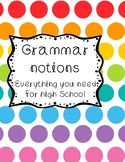 Grammar notions in English