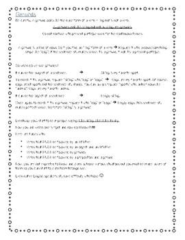 Grammar notions in English