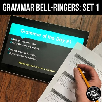 Grammar of the Day, Vol. 1: Inductive Reasoning Bell-Ringers or Mini-Lessons