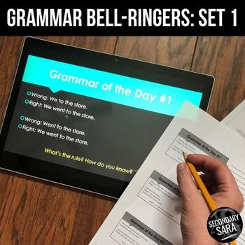 Grammar Bell-Ringers, Vol. 1: Complete Sentences, Types, Run-ons, & More