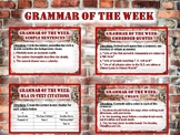Grammar of the Week