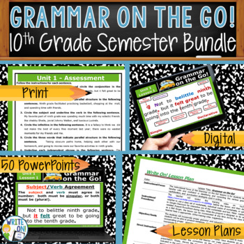 GRAMMAR & VOCABULARY PROGRAM - 10th Grade - Standards Based – HALF YEAR!!!!!!