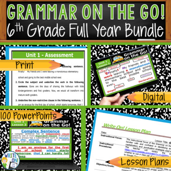 GRAMMAR & VOCABULARY PROGRAM - 6th Grade - Standards Based – FULL YEAR!!!!!