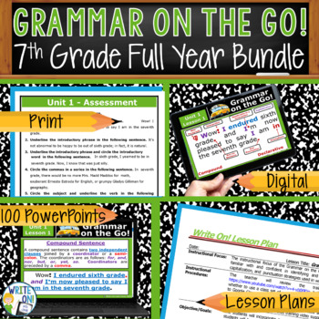 GRAMMAR & VOCABULARY PROGRAM - 7th Grade - Standards Based – FULL YEAR!!!!!!