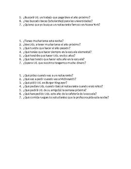 Final exam review: present, preterite, imperfect, future etc
