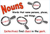 Grammar signs/ detective theme.