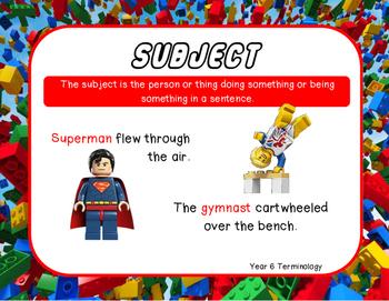 Grammar terminology posters