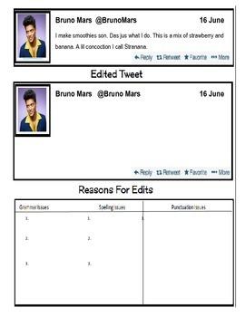 Grammar using Twitter-- Celebrity Tweet #2 (editing)