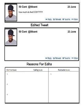 Grammar using Twitter-- Celebrity Tweet #3 (editing)