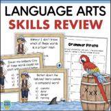 Grammar Mixed Review Task Cards 2nd 3rd Grade Language Arts