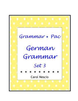 Grammar * Pac For German Class Set 3