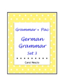 Grammar * Pac For German Class Set 3 ~ German Distance Learning