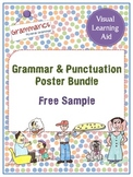 {FREE} Grammar & Punctuation Poster Bundle - Sample Set