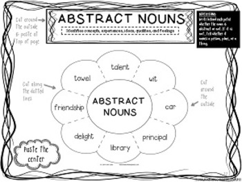 Grammarific: Abstract Nouns Interactive Notebook Pages