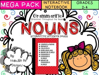 Grammarific: Nouns Mega Bundle Interactive Notebook Pages