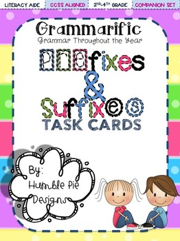Grammarific: Prefix/Suffix Task Cards with Bonus Bingo Game