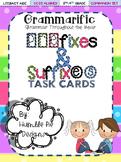 Grammarific: Prefix/Suffix Task Cards with Bonus Bingo Game