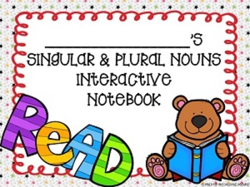 Grammarific: Singular, Plural, and Irregular Nouns Interactive Notebook Pages
