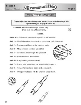 Grammarifics Lesson 8, Adjectives - A Space Journey