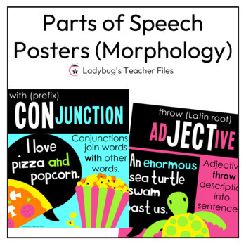 Parts of Speech Posters and Notebook Templates (Academic Morphology)