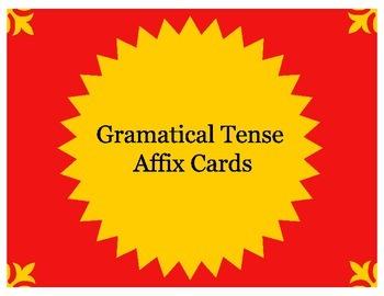 Grammatical Tense Affix Cards