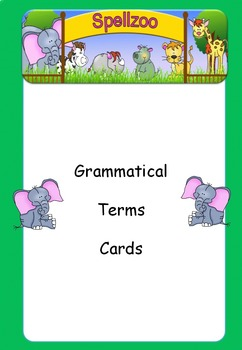 Grammatical Terms Activity Cards