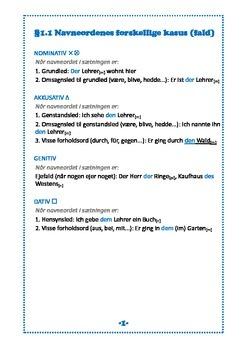 Grammatikbog til tysk