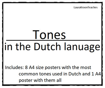 Grammer tones in Dutch - A4 size posters