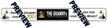 Grammy Award Banner of Thanks for Teachers