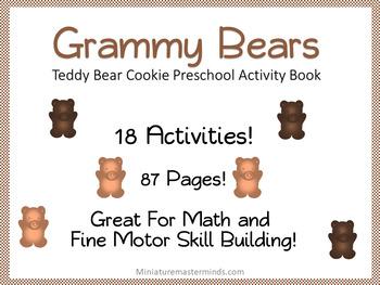 Grammy Bears Teddy Bear Cookies Preschool Printable Activity Pack