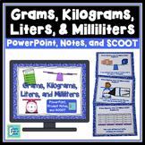 Metric Volume & Mass - Grams, Kilograms, Liters, Milliliters PowerPoint Lesson