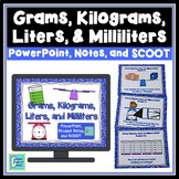 Grams Kilograms Liters and Milliliters Lesson and Game for PowerPoint
